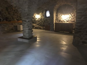 salle voutée vide